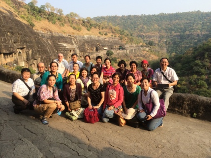 6 (Group at Ajanta Caves)