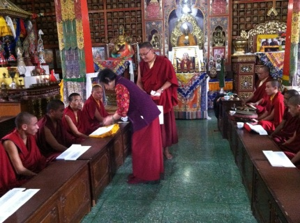 4. Offering to Lamas and Monks