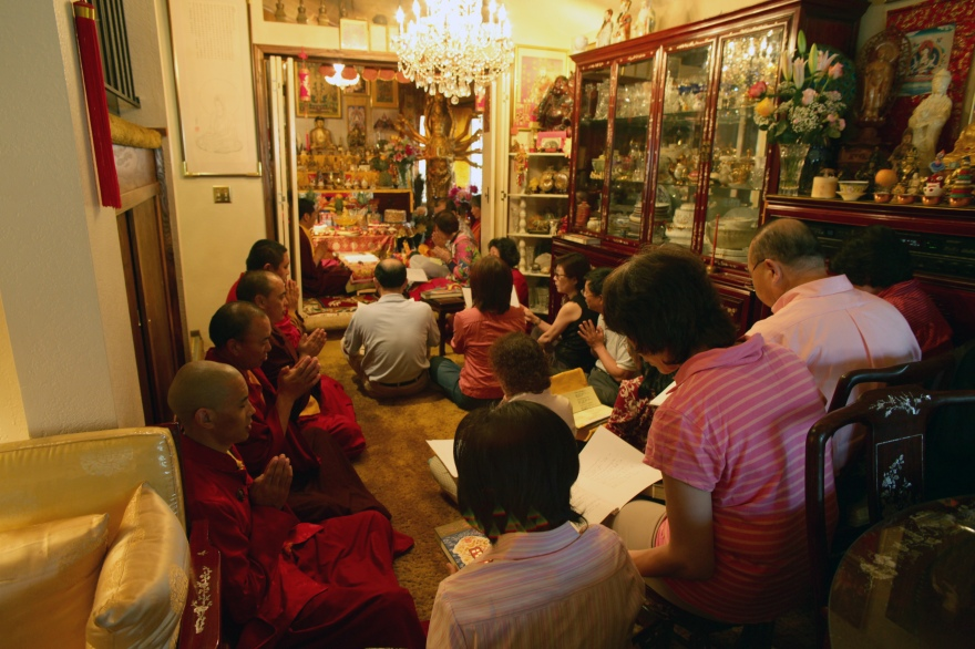 Chanting on Buddha's Birthday