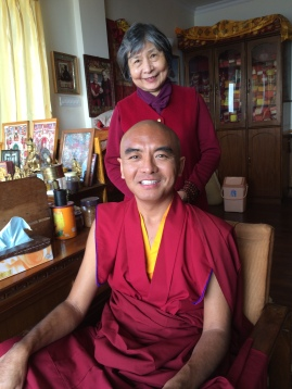 Rinpoche and Dorje Palmo