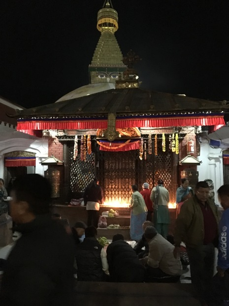 Boudha-stupa-night-view
