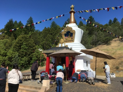 Prayers at Stupa