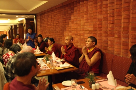 32 Dinner Prayer with MIngyur Rinpoche & Tsoknyi Rinpoche