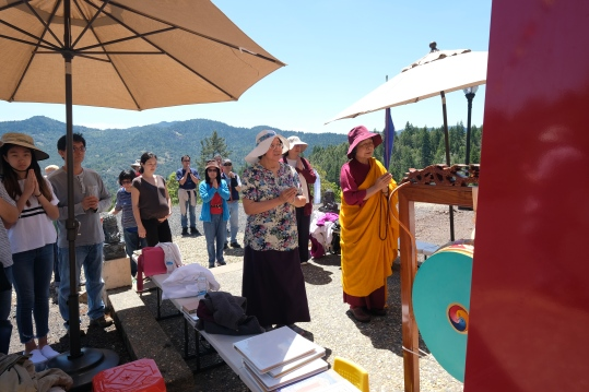 Dorje Palmo Leading Prayer