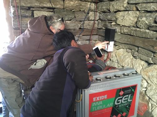 9. Pete Checking Solar Equipment